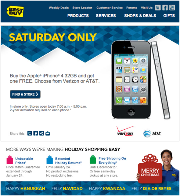 Best Buy iPhone 4 32GB Offer