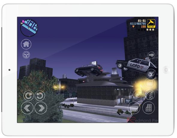 GTA 3 iPad white