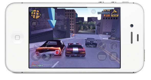GTA 3 iPhone 4S white