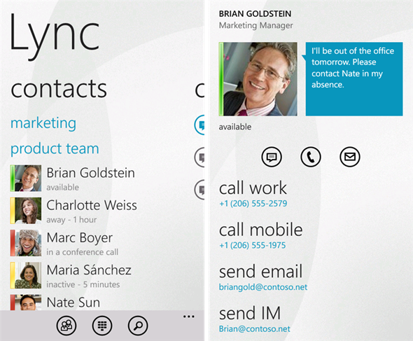 Lync 2010 Screenshots
