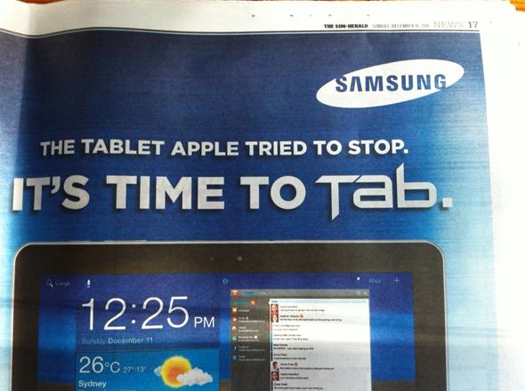 Samsung Tablet Ad