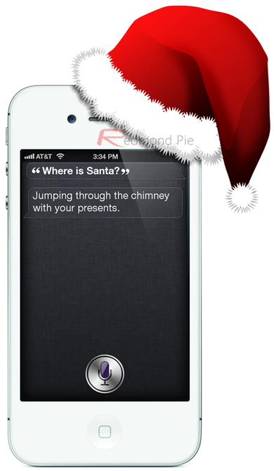 Santa iPhone 4S white