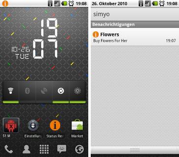 Status Reminder Screens