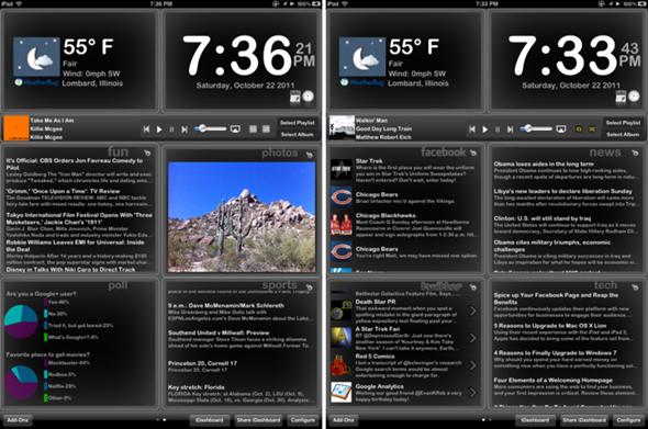 iDashboard Screens