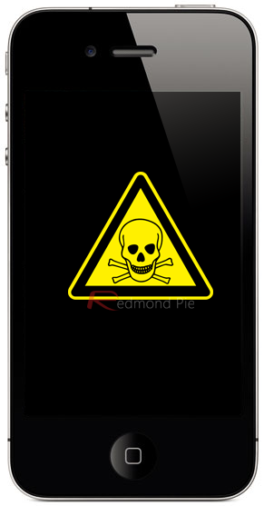 iPhone 4 caution