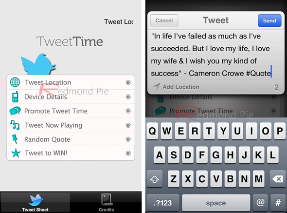 Tweet Time Screenshots