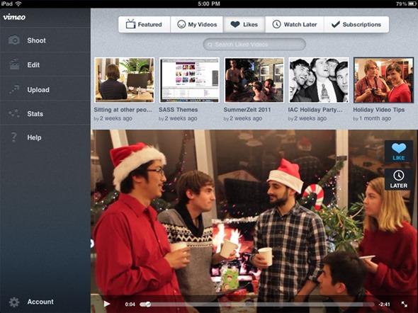 Vimeo iPad