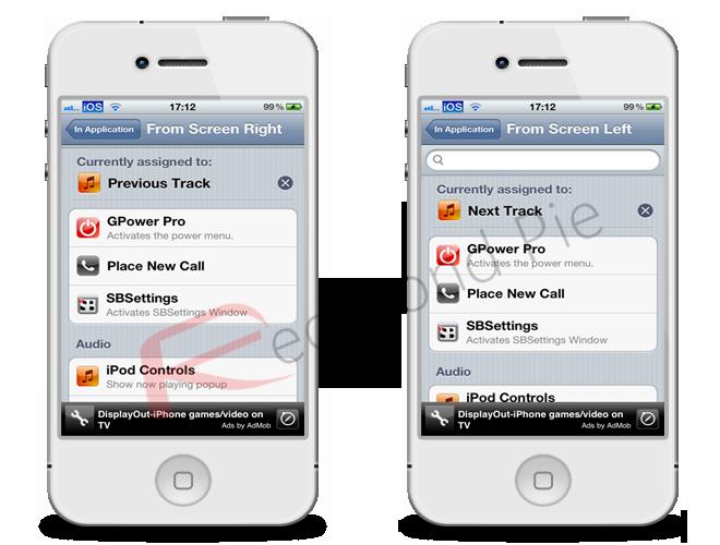 Swipe Navigation For Music Tweak In Cydia Brings Track Changing Via