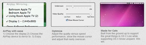 Get OS X Mountain Lion Style AirPlay Mirroring On OS X Lion