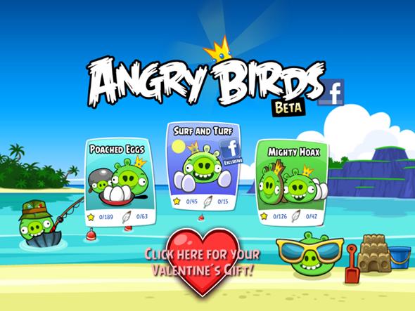 Angry Birds Beta Facebook