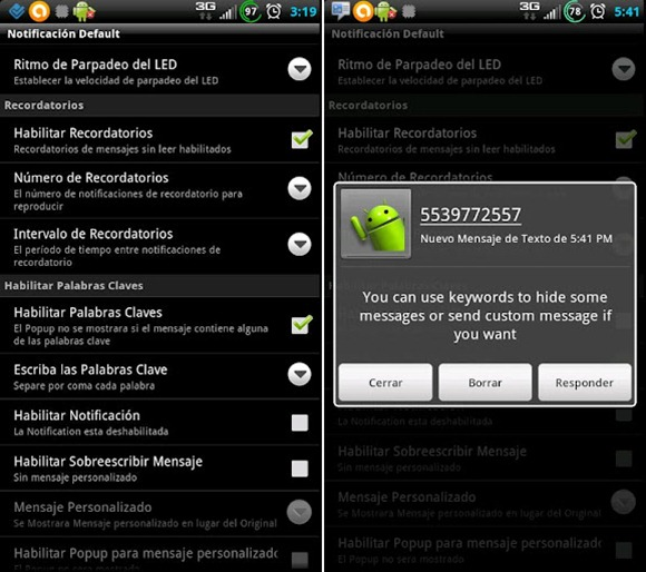 SMS Enhancer Android 2
