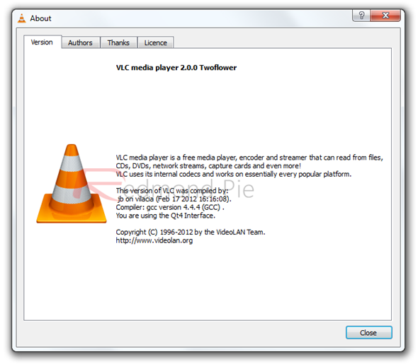 VLC 2 about