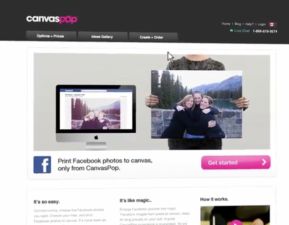 CanvasPop site