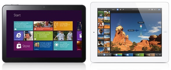 Win 8 tablet vs iPad