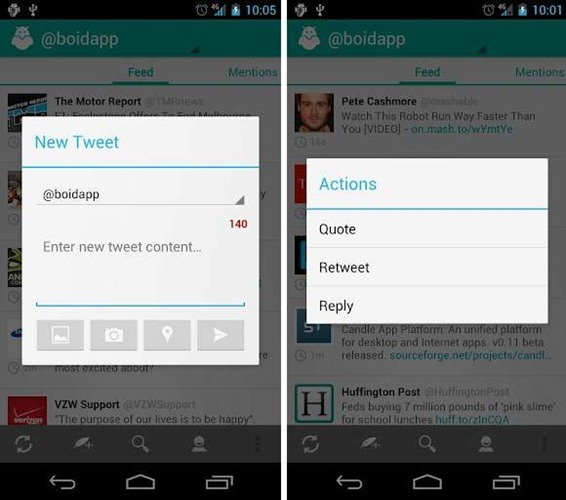 Boid Is A Twitter Client Exclusively Made For Android 4 0 Ice Cream