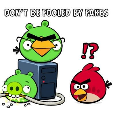 Fake Angry Birds Warning