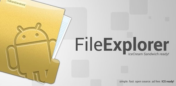 File Explorer Android splash