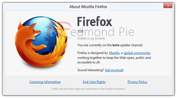 Firefox 13 beta