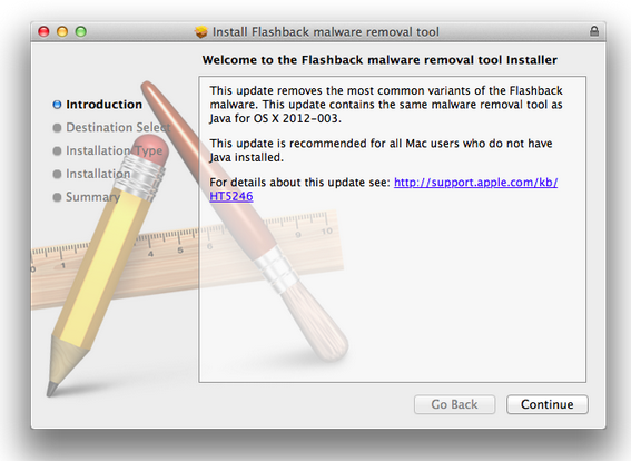 Flashback removal tool Apple official