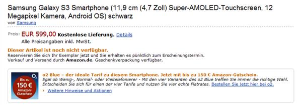 Galaxy S III Amazon