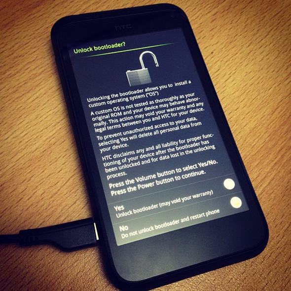 HTC Incredible S bootloader unlock