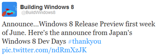 MS Win 8 Release Preview