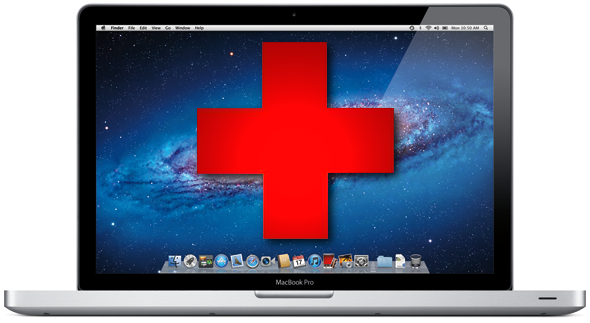MacBook first aid logo