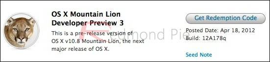 OS X Mountain Lion DP 3