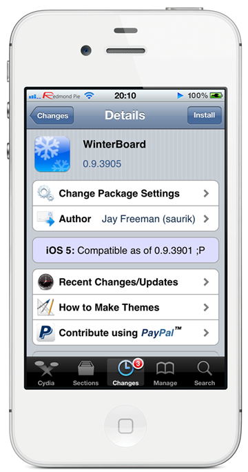 Winterboard update ios