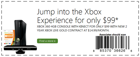 Cheap 99 dollars Xbox 360 Kinect