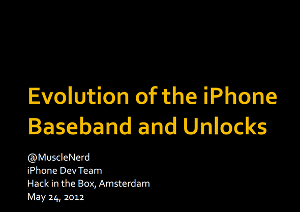 Evolution of the Baseband MuscleNerd
