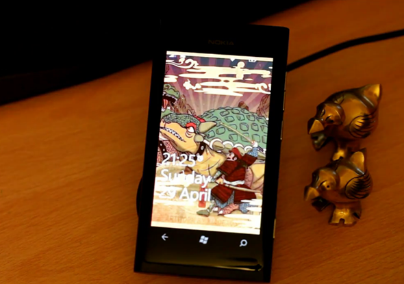 Lumia 800 wireless charging