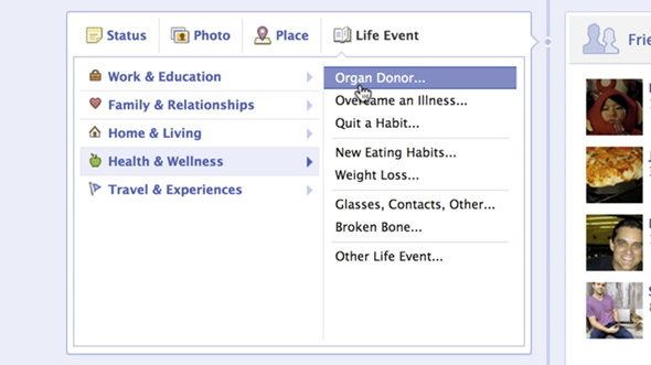 Organ donor Facebook 2