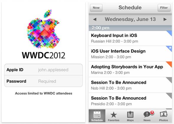 WWDC 12 screenshots