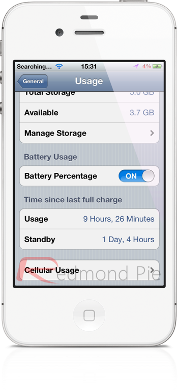 iOS 5.1.1 battery life iPhone 4S