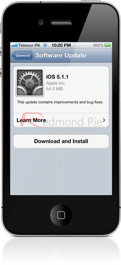 how to update software on iphone ios 5 1 1 for iphone 4s 4 3gs and ipod 19252