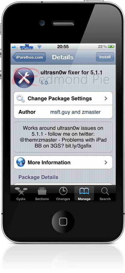 ultrasn0w fixer 5.1.1 iOS repo package