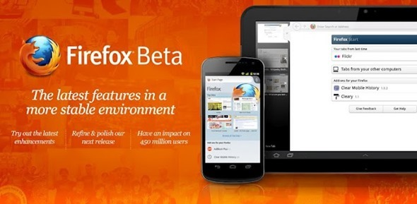 New Firefox Beta For Android Released, Features Flash