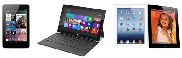 Nexus 7 vs Surface vs iPad
