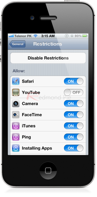 iOS Restrictions