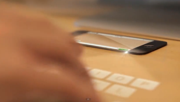 iPhone 5 Laser Keyboard concept