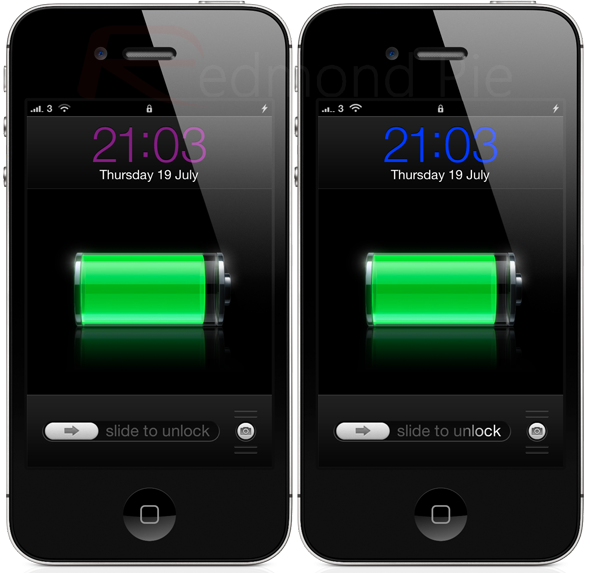 iphone screen changing colors how to change the color of the lock screen clock in ios 8766