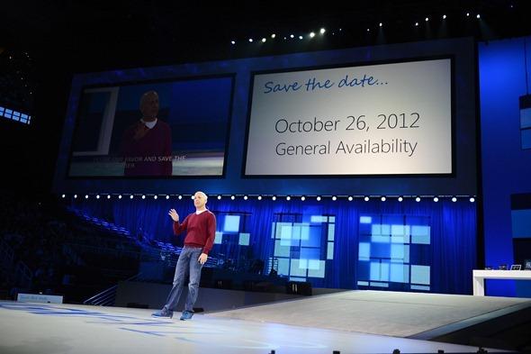 Microsoft Windows 8 release date