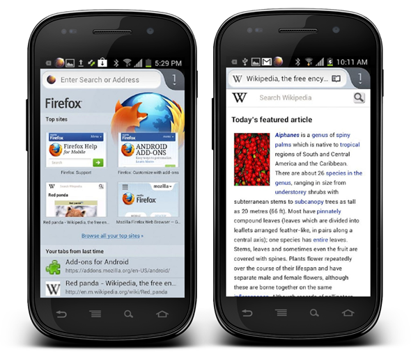 Firefox 16 beta Android