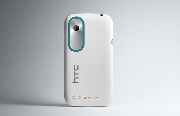 HTC Desire X white rear shot