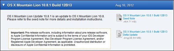 OS X 10.8.1 ML