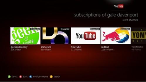 YouTube App Xbox