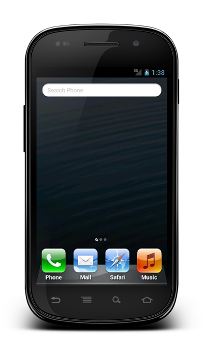Fake iPhone 5 launcher spotlight