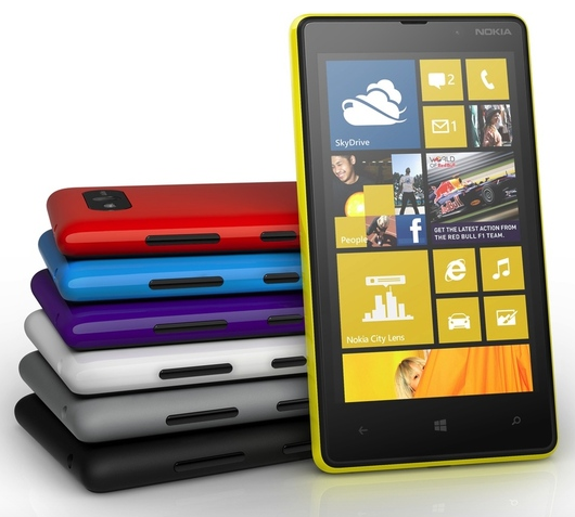 Lumia 820 front colors