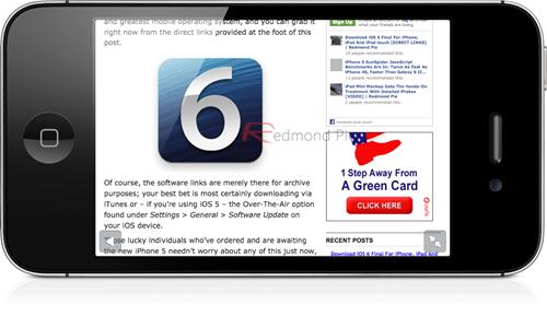 iOS 6 Full-Screen Safari